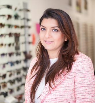 Priyanka Patel, (BSc MCOptom, Prof Cert Glaucoma), our principal optometrist